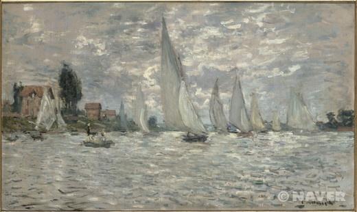 영국 런던 및 네덜란드를 여행하고 돌아온 클로드 모네는 1871년 말에 파리에서 멀지 않은, 센 강변에 위치한 작은 마을인 아르장퇴유에 정착했다. 사실 파리에서 지내는 것보다 아르장퇴유에서 지내는 편이 그에게 있어서 경제적으로 덜 부담이 되었지만, 그럼에도 불구하고 그는 한동안 파리에 아틀리에를 마련해 두고 매일 두 곳을 왕복했다. 그러나 모네는 곧 아르장퇴유에서의 삶에 빠져 들게 되었고, 이곳 풍경들 속에서 자신의 작품에 그릴 수많은 모티프들을 발견할 수 있었다. 특히 드넓게 펼쳐진 경작지와 포도밭 사이로 구불구불 이어진 길들, 센 강가와 개양귀비가 피어 있는 들판의 산책로, 철교 등이 그에게 있어서 매력적인 작품의 소재가 되어 주었다. 또한 선상 아틀리에에서 그는 출렁이는 회색 빛의 강물의 모습이나 폭풍우로 요동치는 날씨 속에서 흔들리는 배의 움직임을 관찰했으며, 바람이 부는 풍경이나 찰랑거리는 물결의 움직임 등을 선명하면서도 분절된 붓 터치로 표현했다.