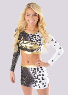Dye Sublimation Allstar Cheerleading Uniform by Rebel Athletic