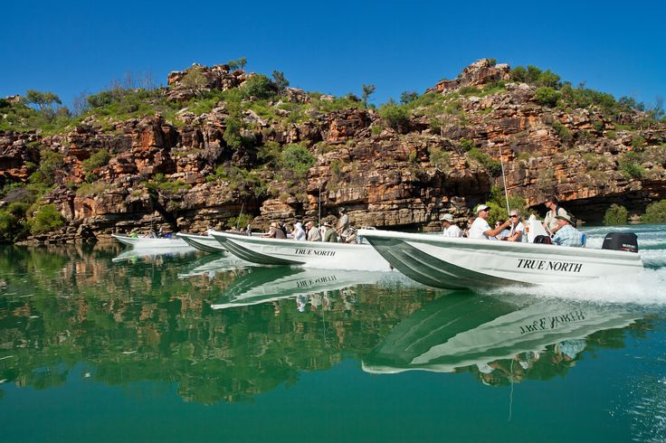 6 expedition craft for shore excursions aboard TRUE NORTH! #northstarcruises #fishing #guidedwalks #boats #tenders #thekimberley #rivers