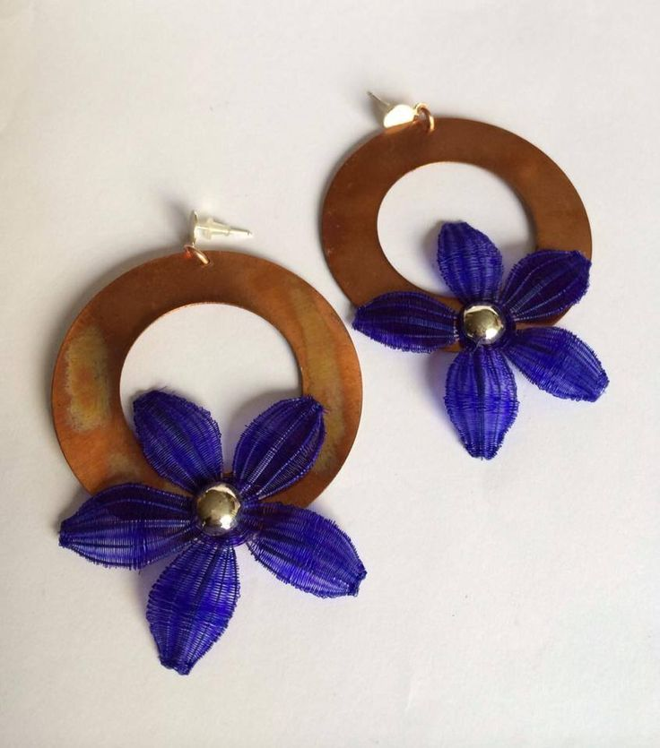 Chilean cooper earrings