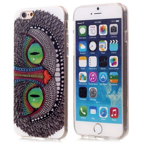 Stylish TPU Back Cover Case of Owl Pattern for iPhone 6 / 6S - 4.7 inches