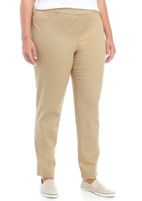 New Directions Women's Plus Size Pull On Pants - Perfect Khaki - 18W