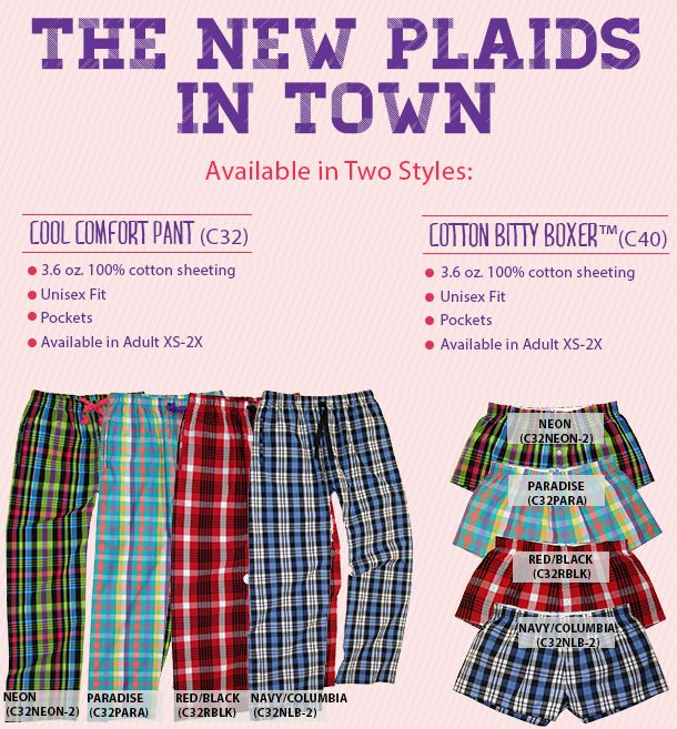 Boxercraft - New Cotton Patterns are in! Available in our Cool Comfort Pant and our Cotton Bitty Boxer.