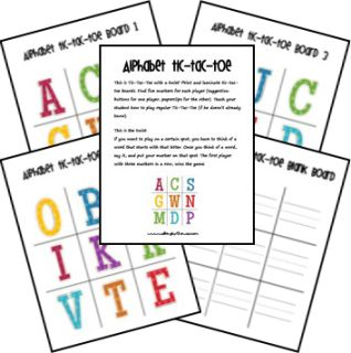Download-able ideas for little ones learning their letter sounds!: Free Alphabet, Downloads Ideas, Abc Ideas, Printable Alphabet Games, Free Printable Games For Kids, Tic Tac To Games, Alphabet Tic Tac To, Free Printables, Tictacto