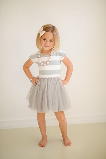 Sea Me Twirl Tutu Dress - Gray | Taylor Joelle Designs Baby and Children's Clothing Boutique