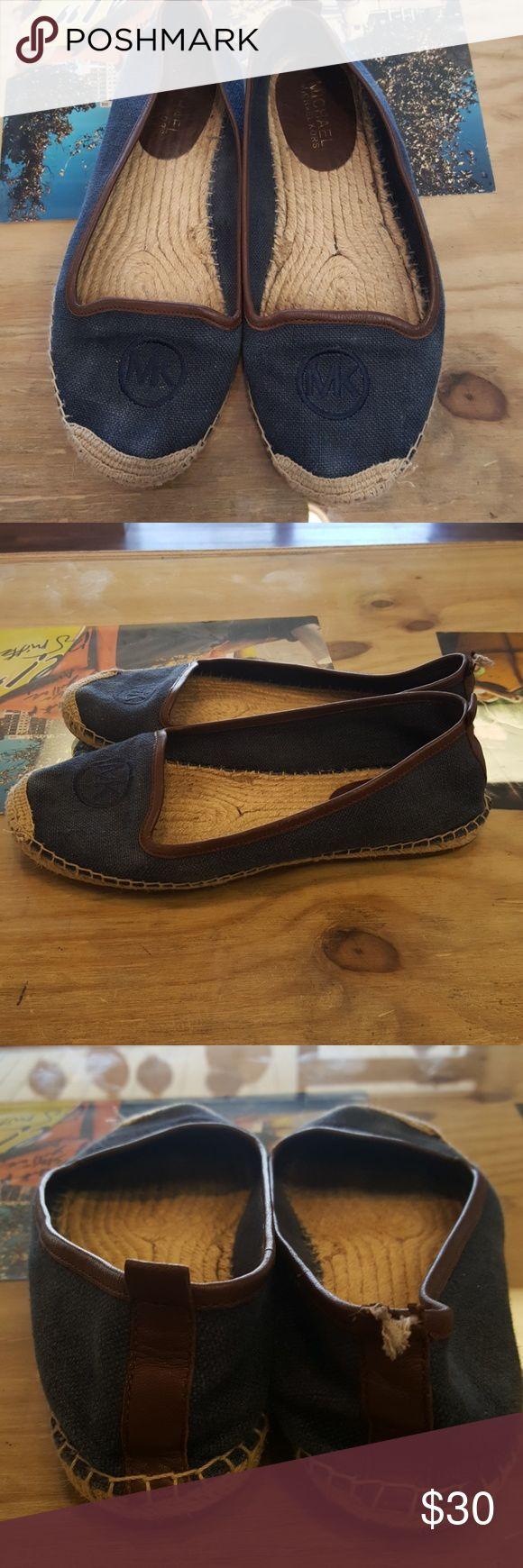 Michael kors flats Michael kors woven flats with jean material Michael Kors Shoes Flats & Loafers