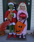 The Grinch and Cindy Lou Who Costumes - 2012 Halloween Costume Contest