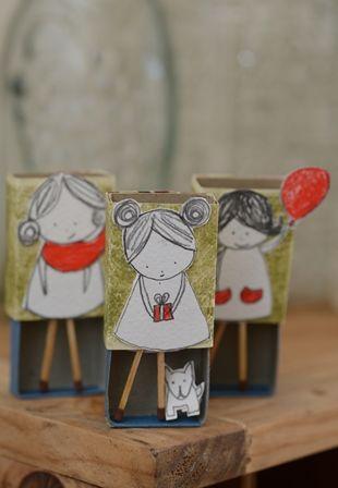 Matchbox girls craft idea for kids