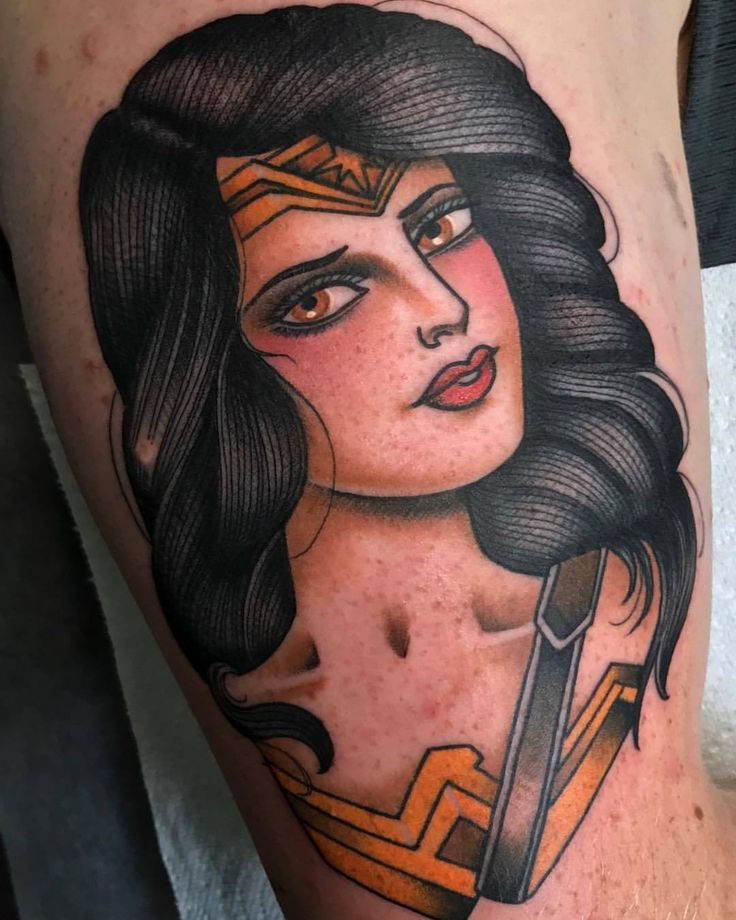 """therealjonftw:  """"Wonder Woman for Connor, thanks mate!! Made today @tradition_tattoo_brisbane Dm or jonnyfarq@gmail.com to book something in.  (at Tradition Tattoo)  """"  Jon FTW"""