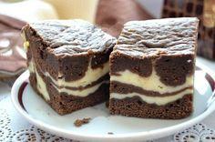 Čokoládovo tvarohový koláčik