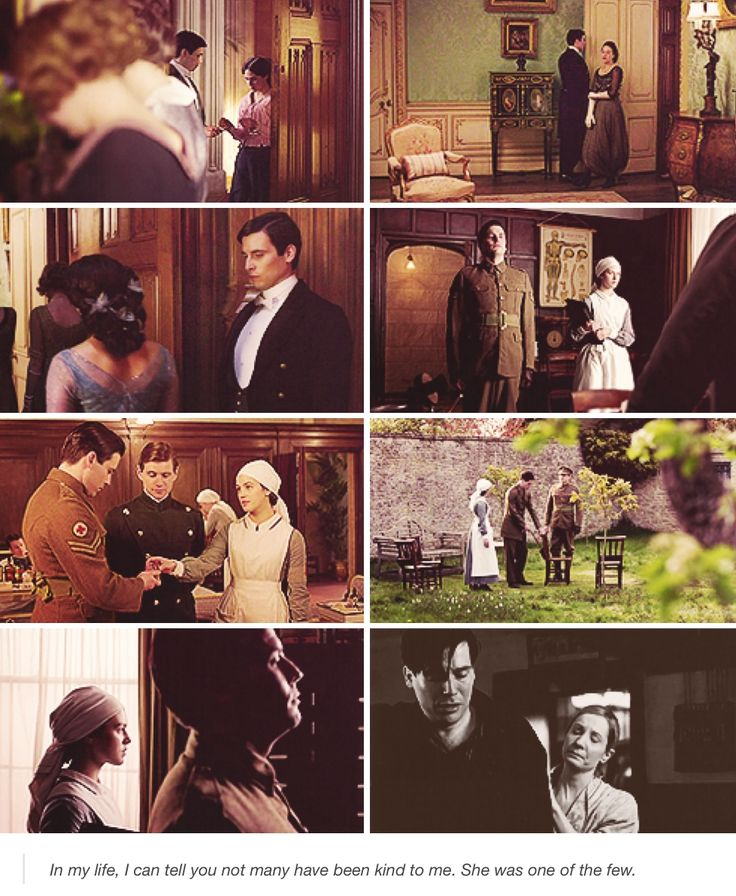 Thomas Barrow and Sybil Crawley>> I really wanted more character interaction from these too, Sybil would have been so understanding