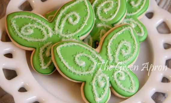 24 (two dozen) Fairy Wing (Tinkerbell Inspired) Decorated Sugar Cookies on Etsy…