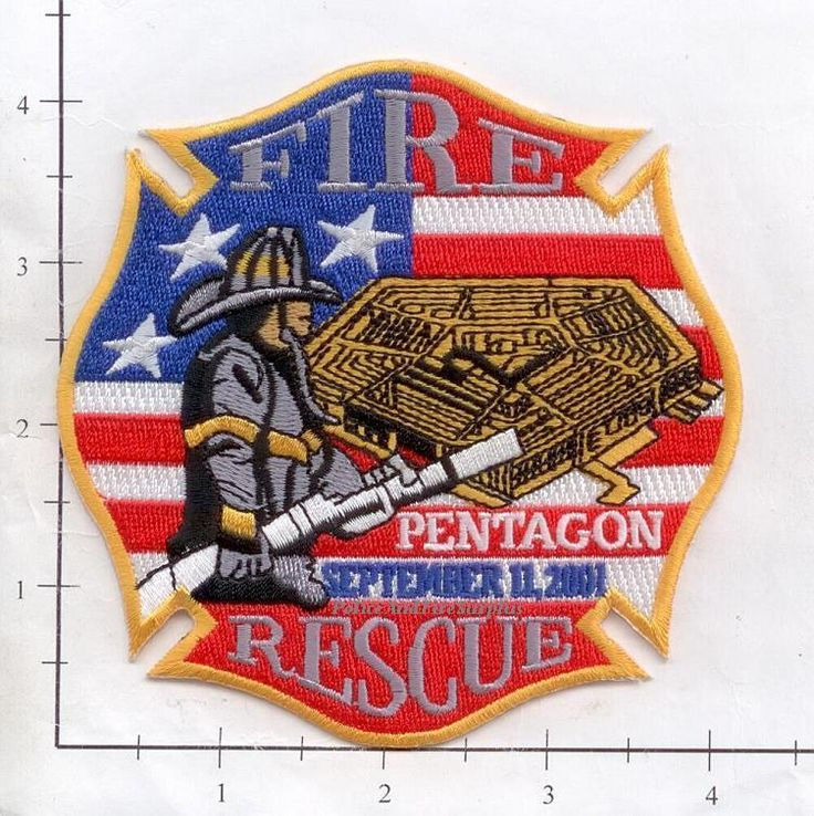 Washington DC - 9-11-01 Pentagon Fire & Rescue Fire Dept Patch WTC 9-11 #Patches