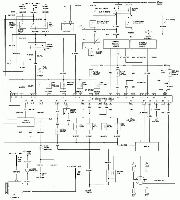 1991 Camry Wiring Diagram