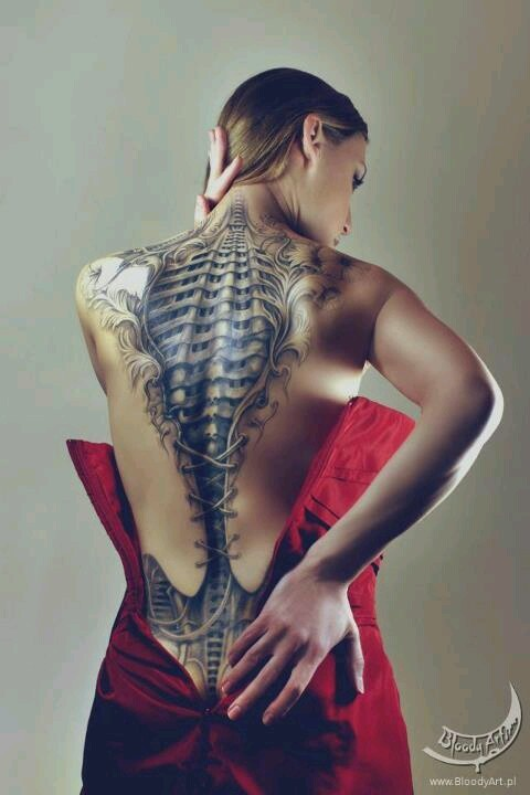 Spine tattoo