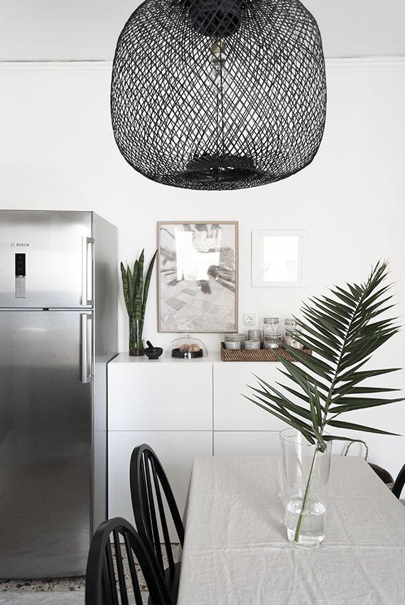 My new bamboo pendant lamp in the kitchen by The Maison Craft. Photo © Eleni Psyllaki My Paradissi