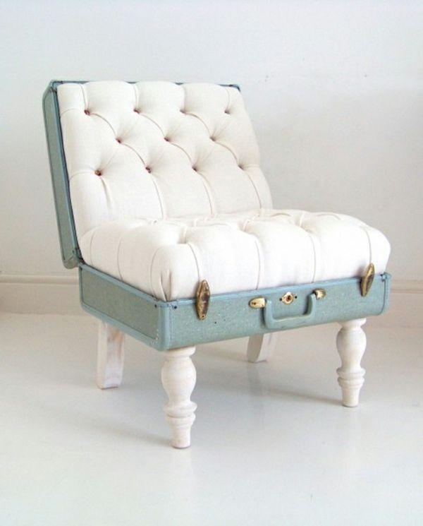 Chaise confortable en forme de valise                                                                                                                                                                                 Plus