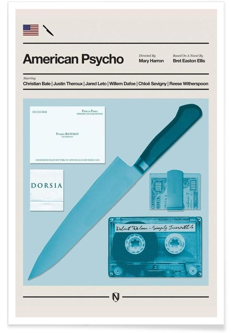 American Psycho of Needle Design now on JUNIQE!