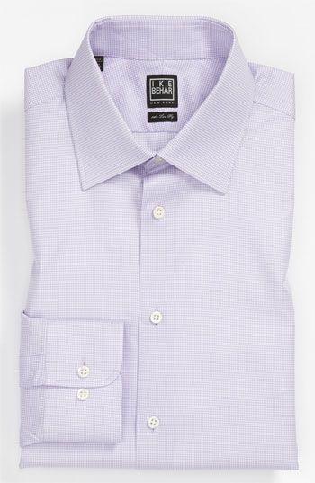 Men's Big & Tall Ike Behar Regular Fit Tonal Texture Dress Shirt