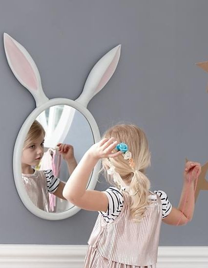 Relax, you weren't transformed into a bunny overnight. You're just looking at yourself in our Good Hare Day Wall Mirror that features a pair of oversized rabbit ears. Carrots not included.