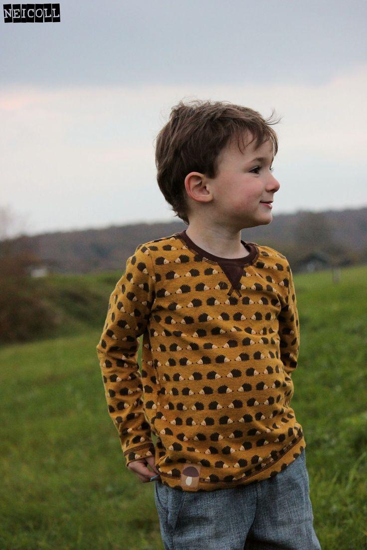 fabric design Deborah van de Leijgraaf -- http://shop.by-bora.com -- #fabric #stof #hedgehog #egel #brown #boy #sewing #shirt #lillestoff #neicoll #designbybora #kidsfabric #kidsfashion #kidssewingpattern
