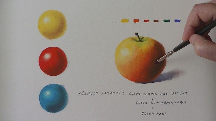 Tutorial de pintura al óleo en el que se explica como se aclaran y oscurecen las pinturas al óleo y como se obtiene el color de las sombras.