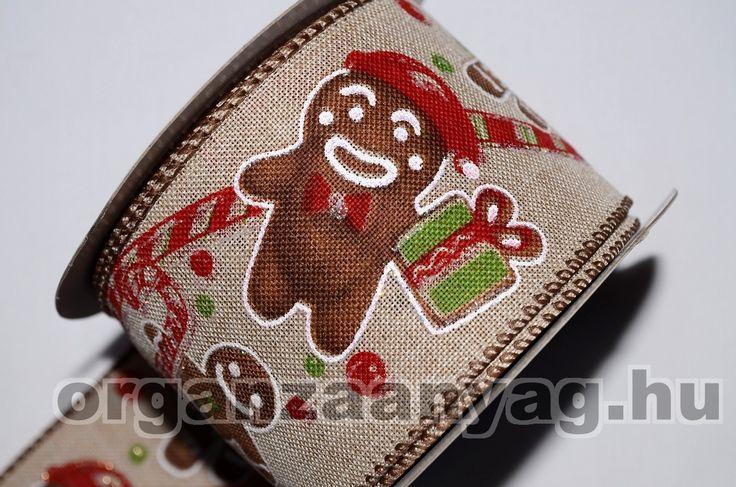 karácsonyi dekorációs textilszalag