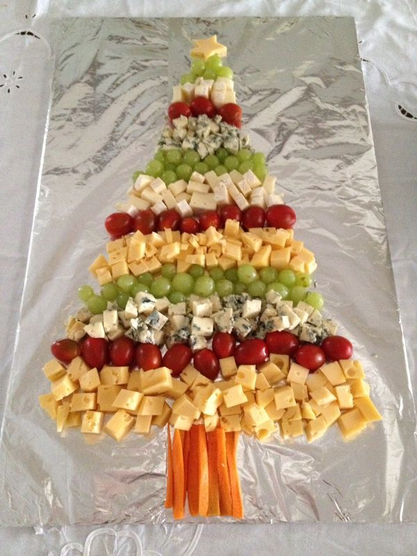 Appetizer Christmas Tree Tray #ChristmasFood #ChristmasFoodforParty #Appetizers #ChristmasTreeAppetizerTray