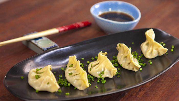 Mushroom veg chinese style dumplings