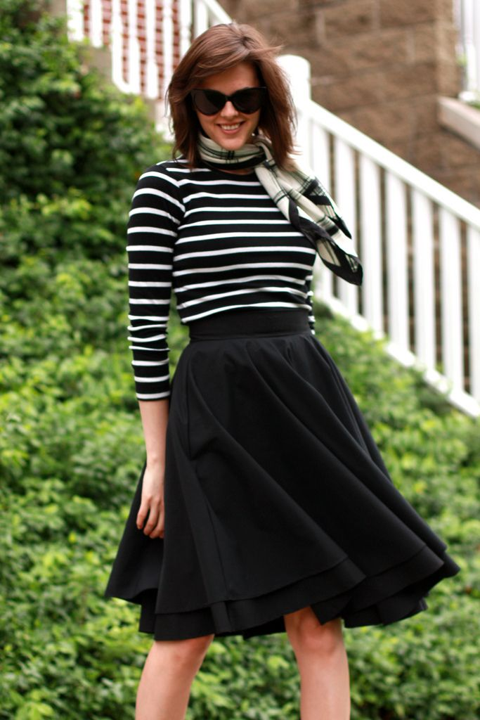 54 best blackwhite striped t-shirt outfits images on Pinterest ...