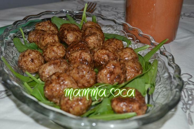 il cuore della casa: la cucina: Polpette all' aceto balsamico