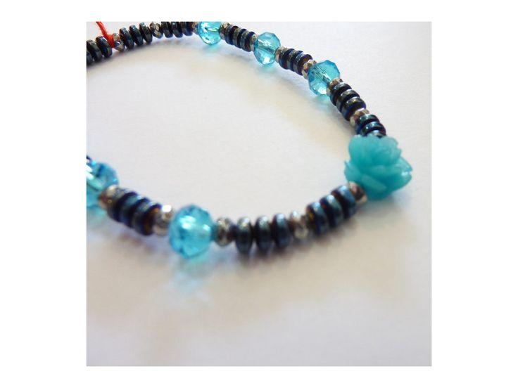 Bracelet Hématite & Cristaux