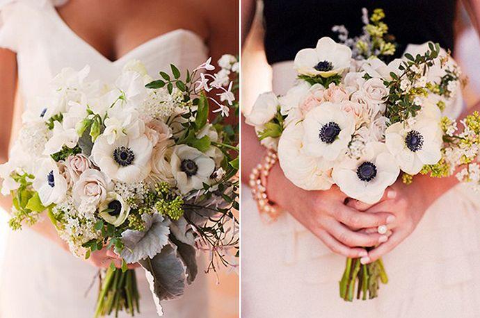 Schöne Brautsträuße mit Anemonen für die Winterhochzeit ...