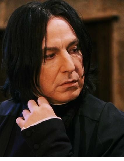 "karthaeuser65: ""Beautiful Severus Snape! Beautiful Alan Rickman! ""Harry Potter and the Philosopher's Stone"" (2001) """