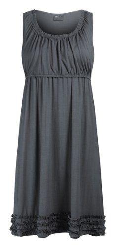 Amazon.com: Anabelle Ruffle Hemmed Pregnancy and Nursing Lounge Dress: Clothing