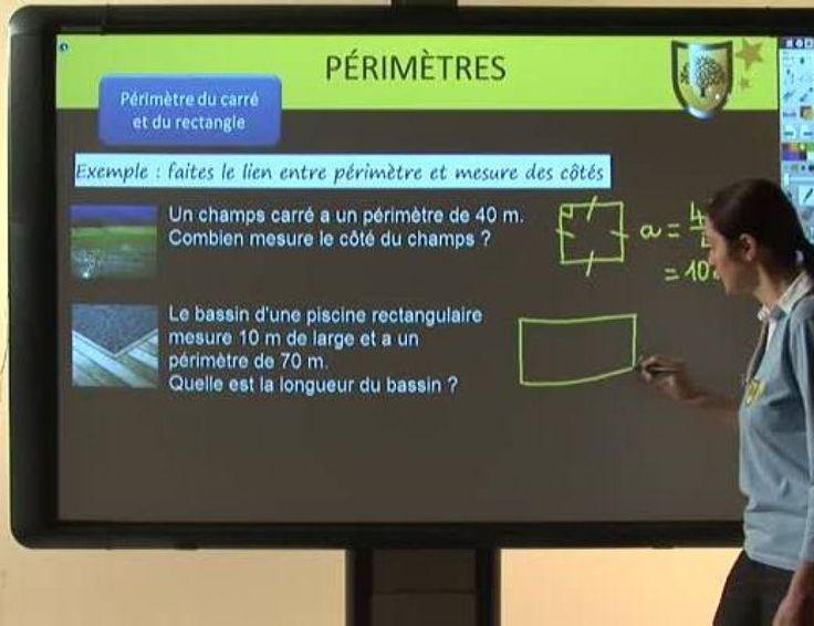 Calculer le périmètre d'un rectangle, d'un carré et d'un disque