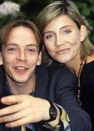 On screen, their marriage was a disaster. Off-camera, they got on very well. Adam Woodyatt and Michelle Collins as Ian Beale and his first wife, Cindy.