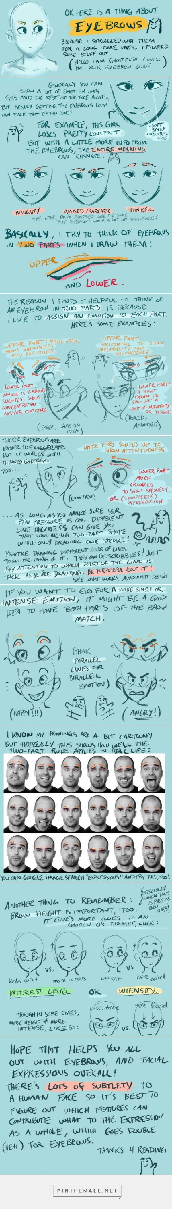 a tutorial for eyebrows!: http://ghostfiish.tumblr.com/post/62406002826/i-made-a-tutorial-for-eyebrows-as-i-was-doodling... - a grouped images picture ★ || CHARACTER DESIGN REFERENCES (https://www.facebook.com/CharacterDesignReferences & https://www.pinterest.com/characterdesigh) • Love Character Design? Join the #CDChallenge (link→ https://www.facebook.com/groups/CharacterDesignChallenge) Share your unique vision of a theme, promote your art in a community of over 25.000 artists! || ★