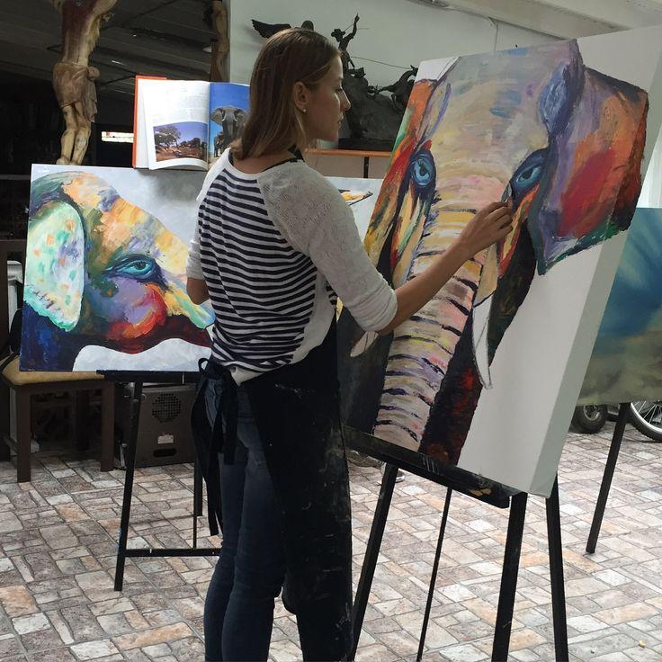 Pintando. 🎨🐘