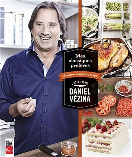 Le chef Daniel Vézina reprend ici son rôle de mentor en vous présentant des recettes, étape par étape, consignes claires et photographies à l'appui. Il  vous accompagne dans la préparation d'une soixantaine de ses plats préférés parmi les classiques de la cuisine.Vous pourrez ainsi préparer en toute confiance des plats tels qu'un bouf bourguignon, un Mac and cheese, un ceviche de poisson o