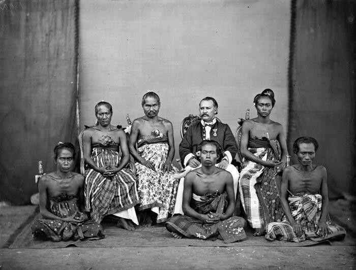 An ancient balinese royal family