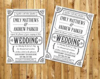 60 best wedding invitation templates images on pinterest wedding wedding invitation template printable wedding by birdiydesign stopboris Choice Image