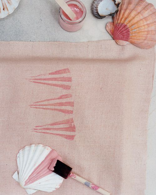 Stamping with shells from Martha Stewart Crafts