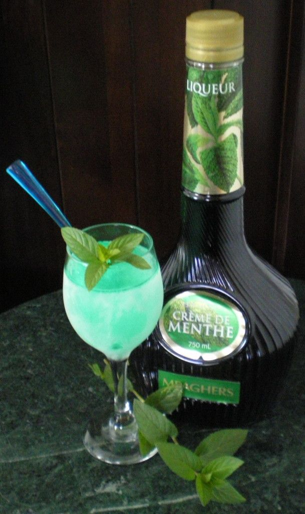 """""""Accidental"""" Creme Cocktail Slushie with fresh picked marvelous Mint! http://marvandweenzpepperinggenes.com/"""