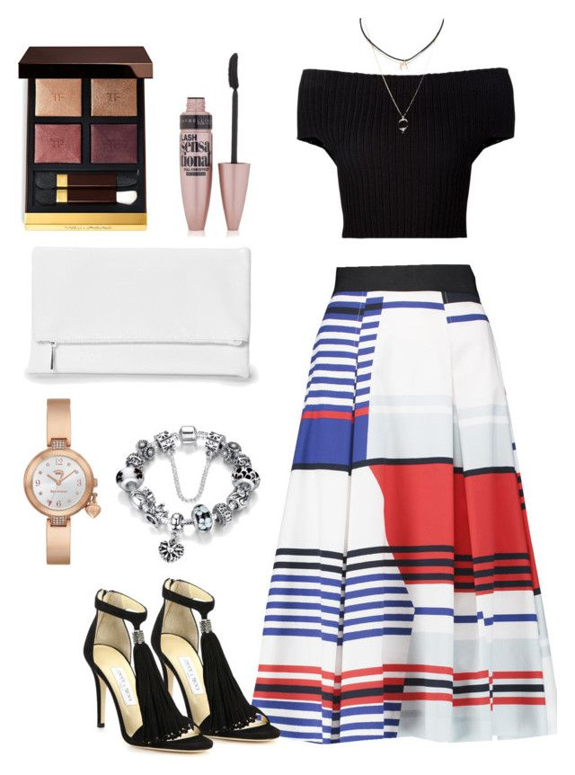 Untitled #38 by xjihye on Polyvore featuring polyvore, fashion, style, Calvin Klein Collection, Milly, Jimmy Choo, Boohoo, Juicy Couture, Tom Ford, Maybelline and clothing
