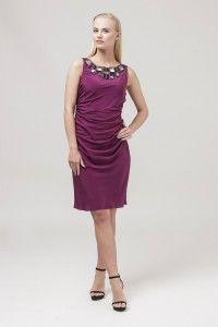 013207170 Sukienka wizytowa #cocktaildress #purpledress #mididress