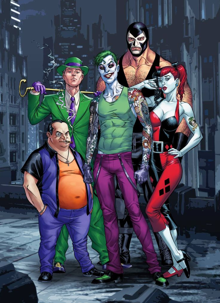 Suicide Squad - Bane, Charada, Coringa, Arlequina e Pinguim