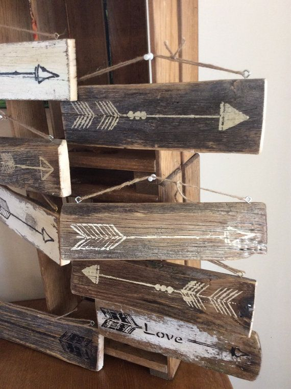 arrow wall decor by ZazziPlannerMixMedia on Etsy