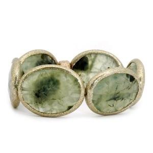 Pulsera de prehnita y plata verde. www.sanci.es