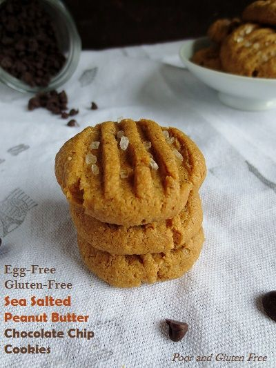 Easy Egg-Free, Vegan and Gluten-Free Sea Salted Peanut Butter Chocolate Chip Cookies (+MeatlessMonday)